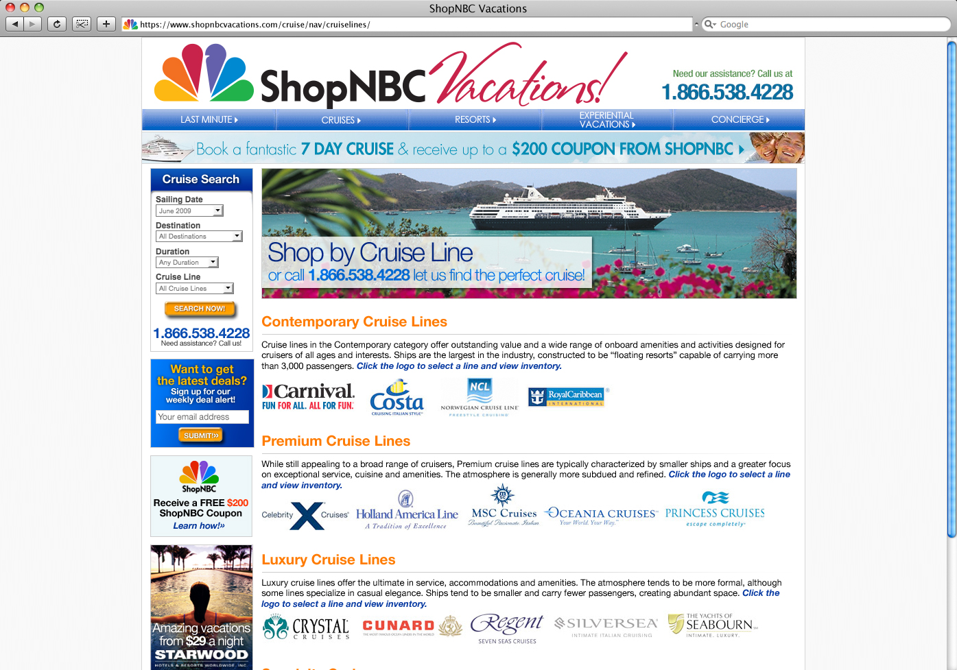 ShopNBC-Vactions-Cruise-Line