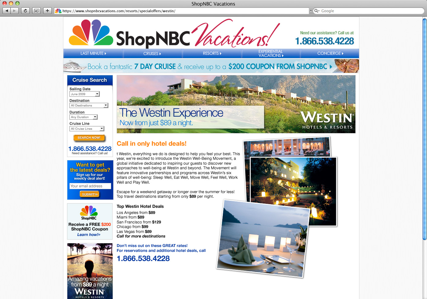 ShopNBC-Vactions-Westin